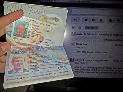 BUY PURCHASE NOVELTY PASSPORT ID DL VISA SSC: 2014