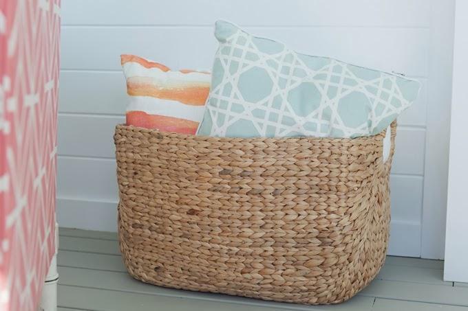 Fibra na decora o jeito de casa blog de decora o e - Cesto para mantas ...