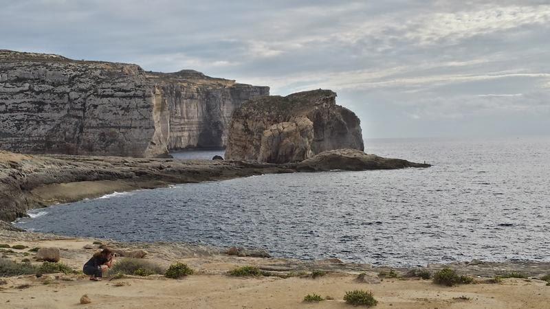 Fungus rock, isla de gozo, imagenes de malta, fotos de malta, erosion en la costa, erosion del mar
