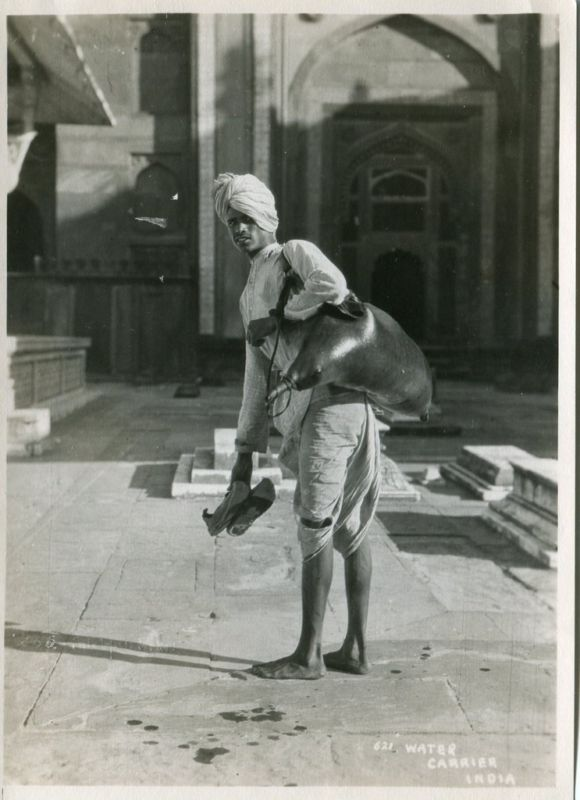Vintage Photograph of a Water Carrier