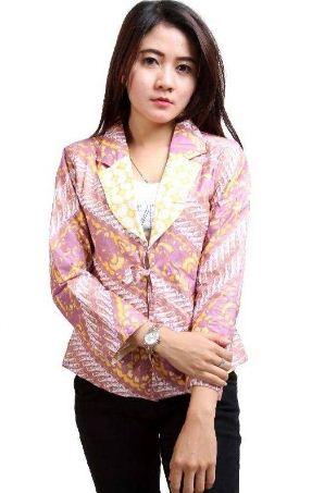 contoh baju batik kantor wanita