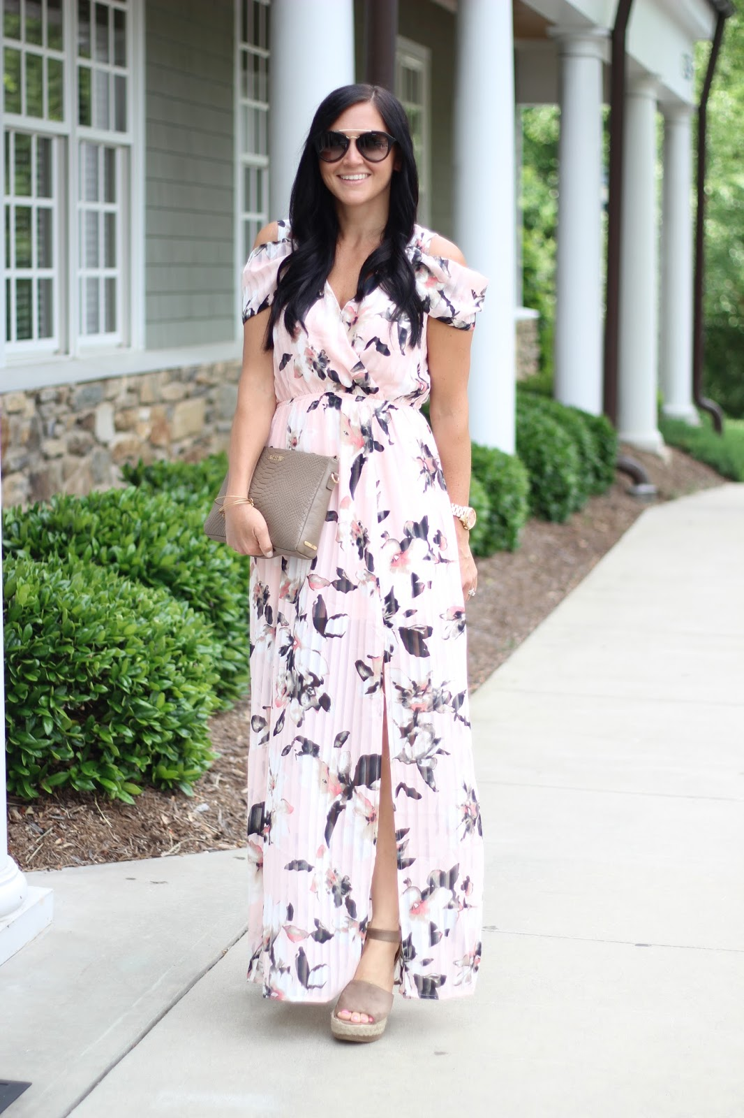 Stilettos and Diapers floral maxi dress