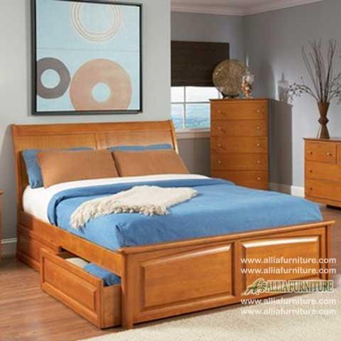 tempat tidur minimalis laci model norwich