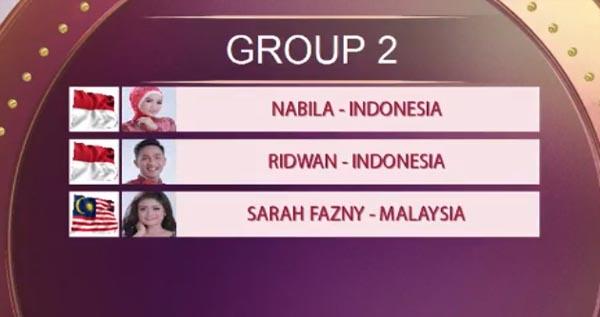 urutan tampil grup 2 top 15 da asia 4