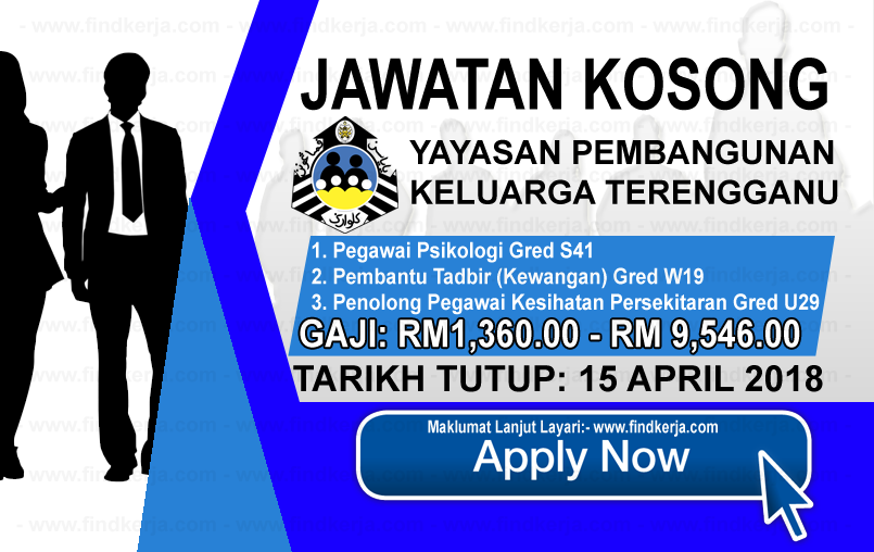 Jawatan Kerja Kosong YPKT - Yayasan Pembangunan Keluarga Terengganu logo www.findkerja.com april 2018