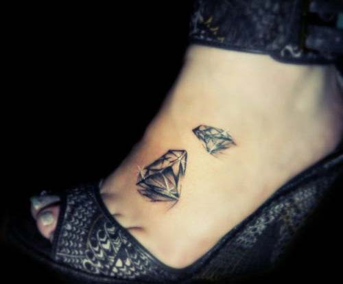 elmas dövmeleri ayak foot diamond tattoos