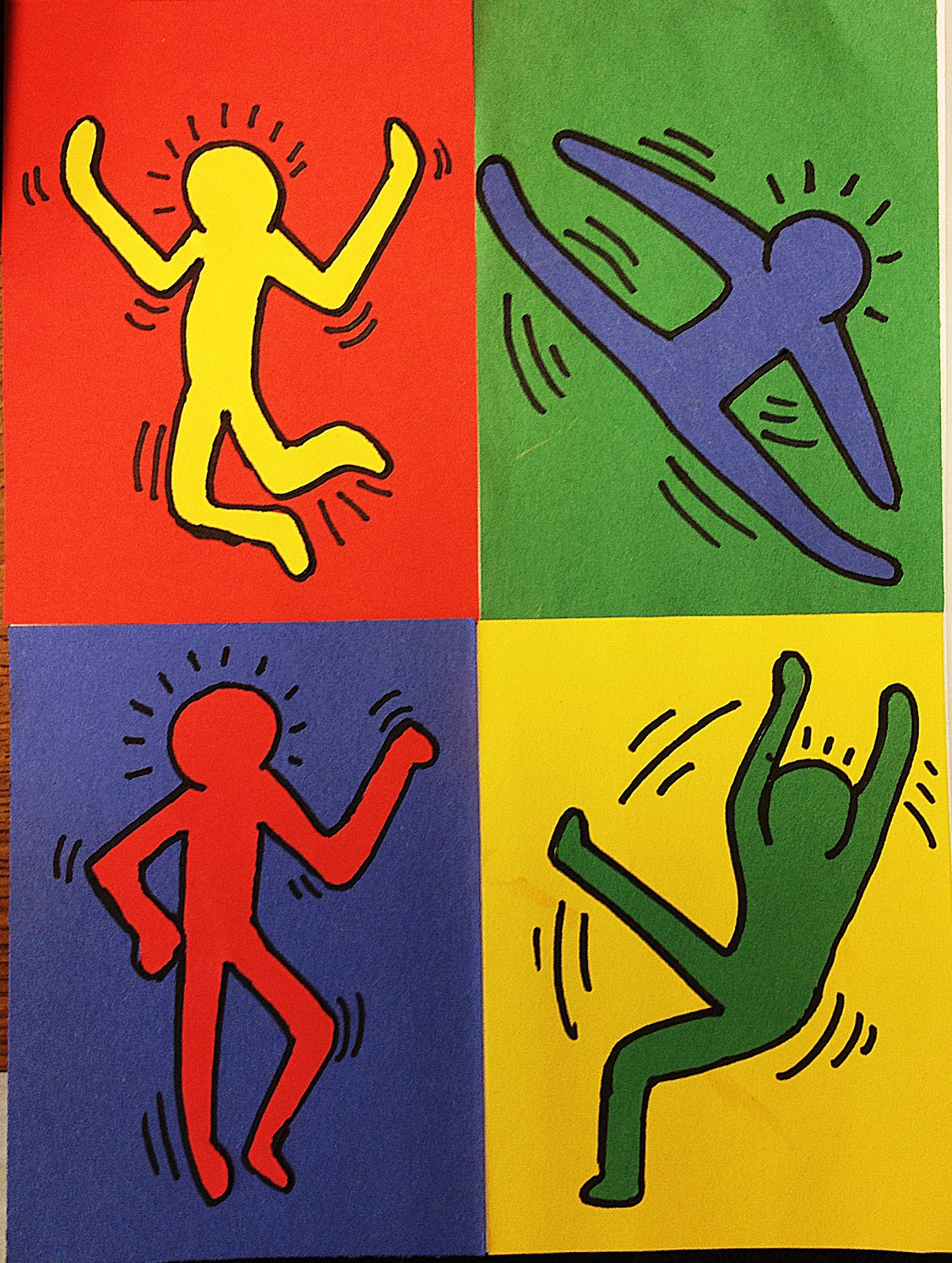 Keith haring figures related keywords keith haring for Keith haring figure templates