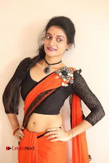 Actress Janani Reddy Pictures in Saree at Lakshmidevi Samarpinchu Nede Chudandi Platinum Disc Function  0171.JPG