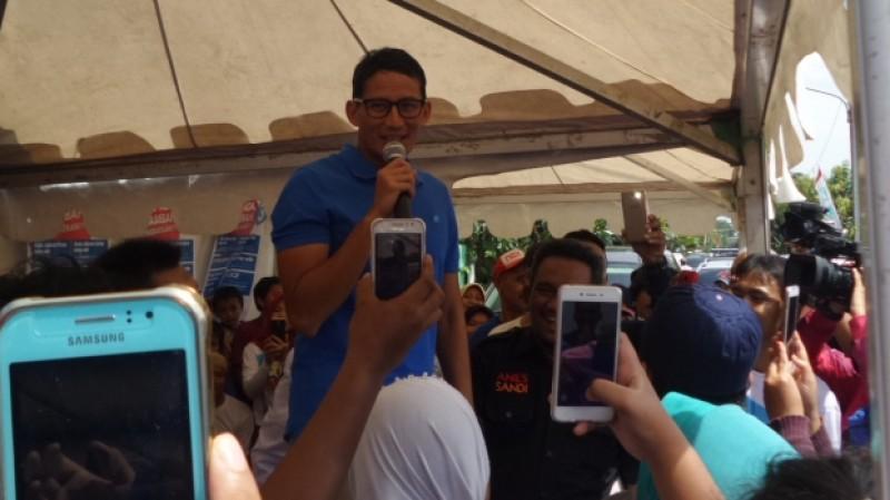 Sandiaga Uno berkampanye di Jati Pulo, Jakbar