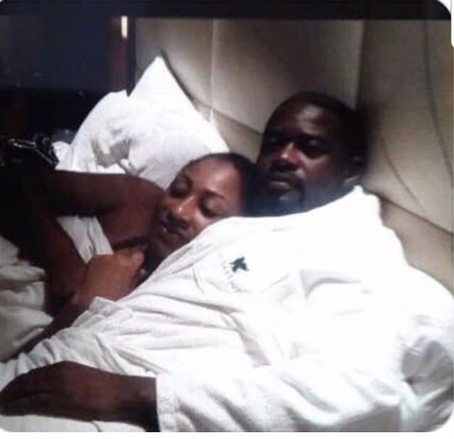 Ellen White on bed with Emelia Brobbey's ex-husband Dr. Kofi Adu Boateng
