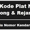 Kode Plat Nomor kendaraan Lebong & Rejang Lebong