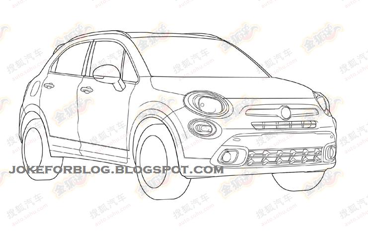 Fiat 500X: foto spia