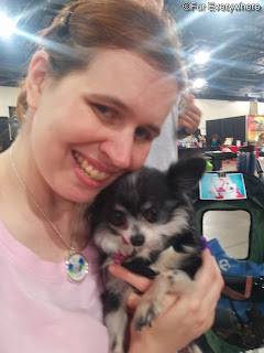 I'm holding Lee, the One and Only at the 2015 Denver Pet Expo.