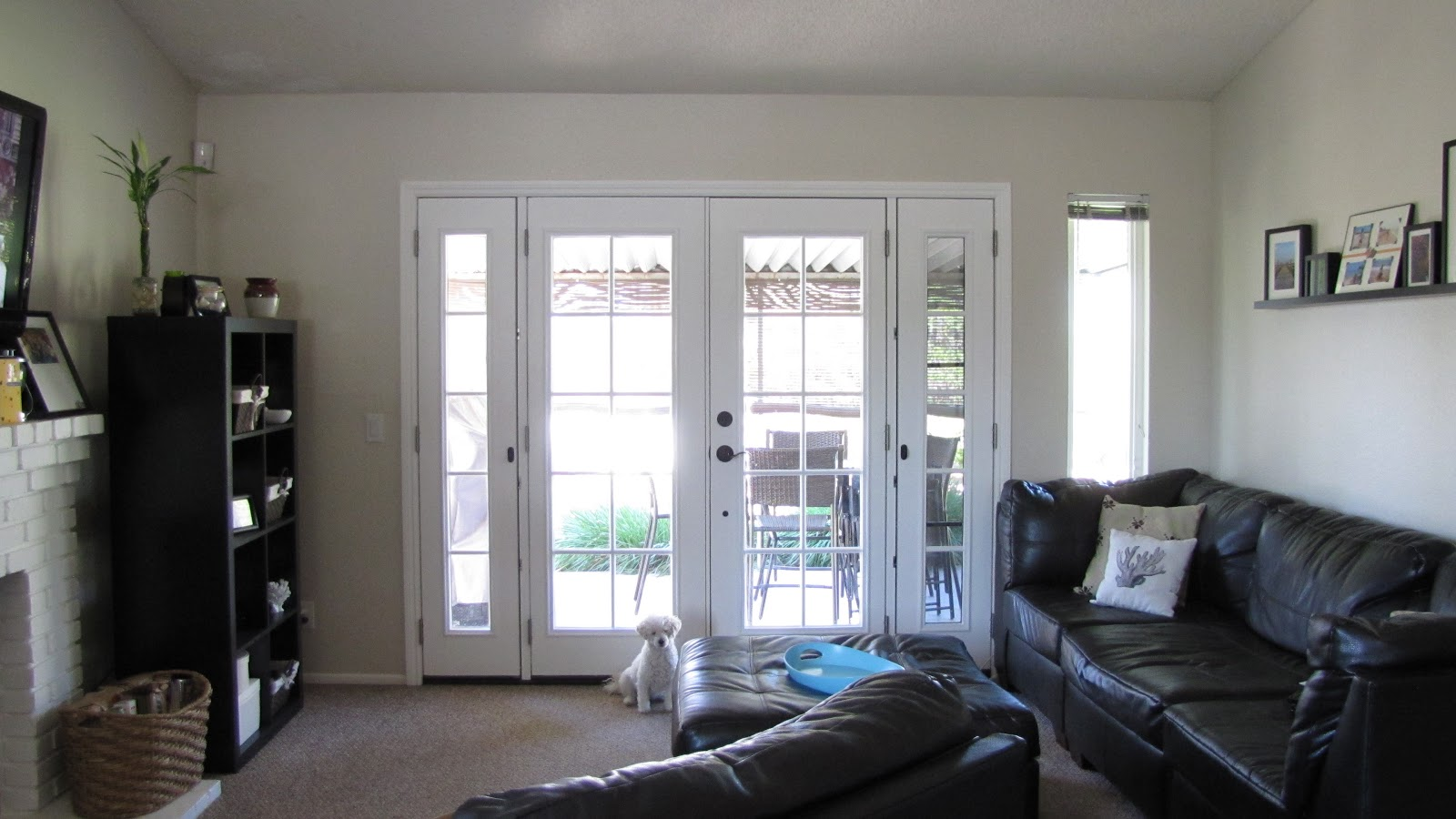 Adventures in DIY: French Doors Window Treatment