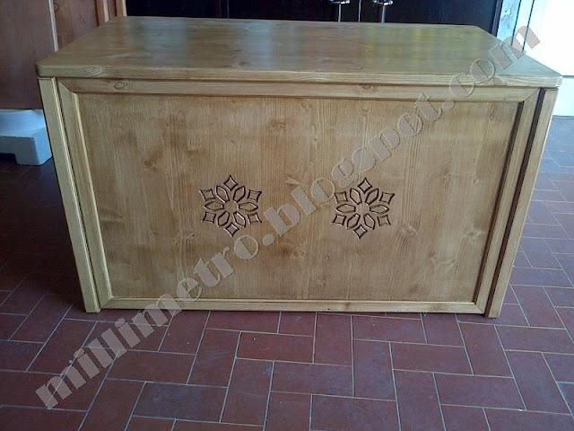 Firewood holder bench