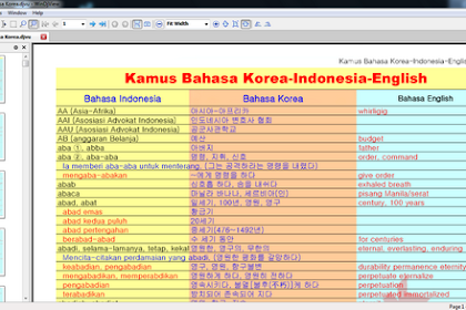 Download Kamus Bahasa Korea Terlengkap