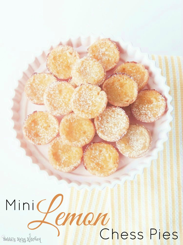 Tiny little bites of heaven, these little lemon pies are easy to make and will have your family raving about your baking skills! From www.bobbiskozykitchen.com