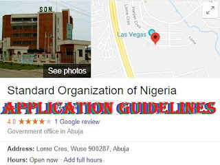 Standard Organisation of Nigeria Recruitment 2018/2019 | SON Complete Application Details