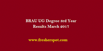 BRAU UG Degree 3rd Year Results March 2017