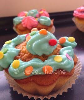 Sweet Kwisine, Mademoiselle M, cupcake,gâteau, vanille, chantilly, crème, cuisine faceile, végétarien, recette pour enfant