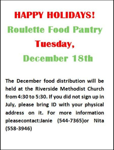 12-18 Roulette Food Pantry