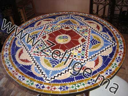 Tables Marocaine En Mosaique Zellige Traditionnel Table Marocain