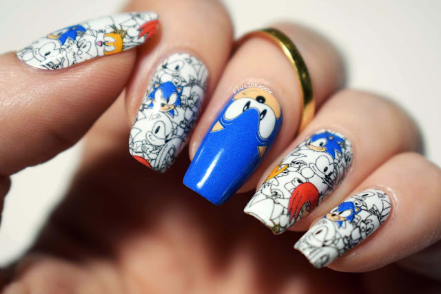 Espionage Cosmetics Sonic, Knuckles and Tails gamer nerdy nail wraps