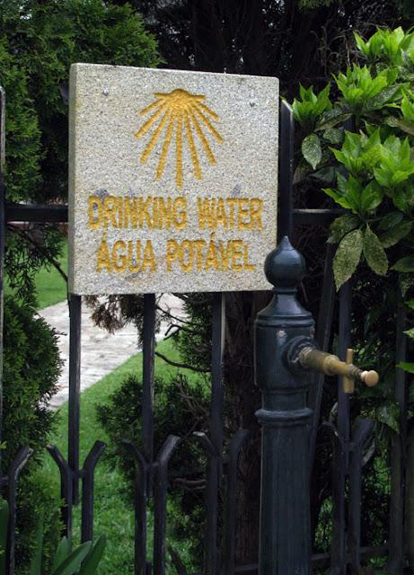água no Caminho de Santiago de Compostela