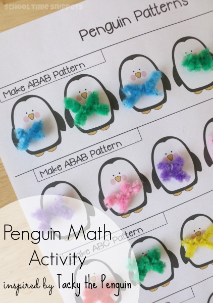 photograph about Penguin Patterns Printable referred to as Generating Behaviors with Cheesy the Penguin Math Printable