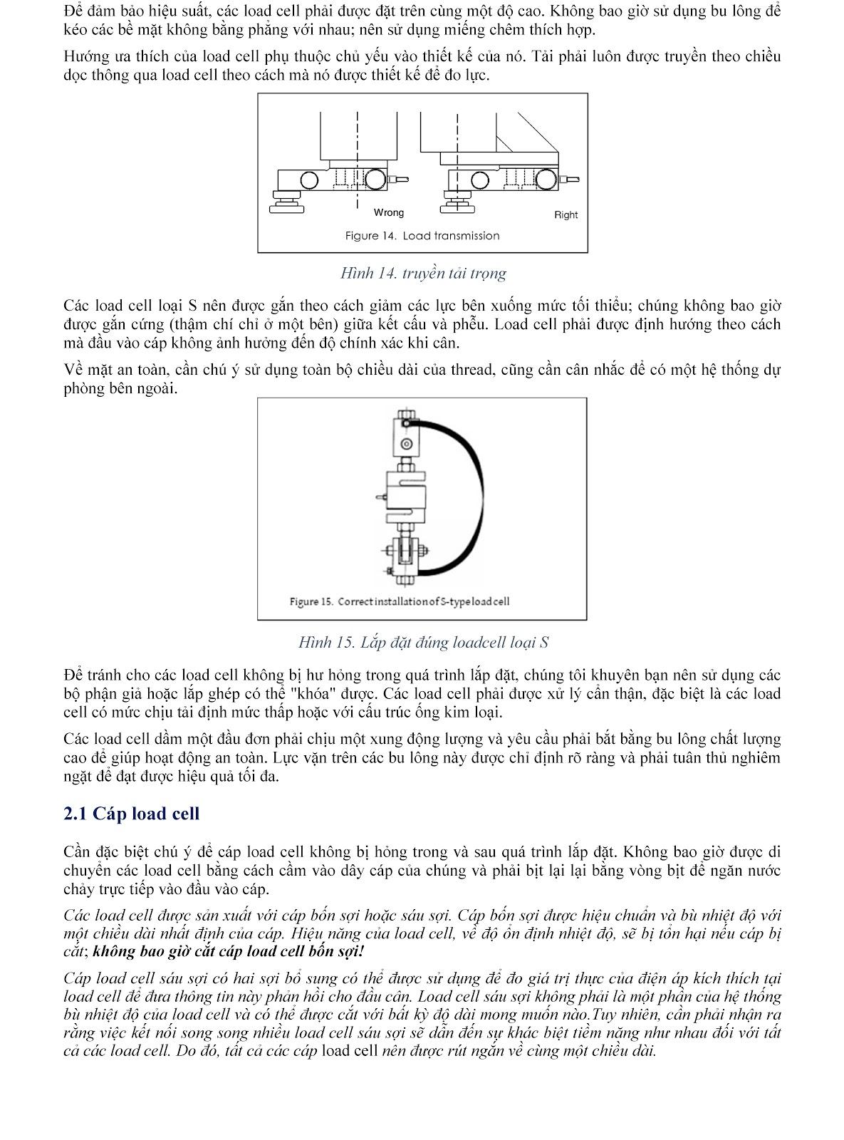 Lưu ý kỹ thuật về Load cell và module cân điện tử (tt) 12