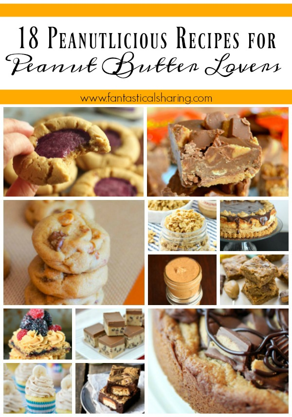 18 Peanutlicious Recipes for Peanut Butter Lovers // November is Peanut Butter Lovers' Month and I have y'all covered! #peanutbutter #roundup #peanut