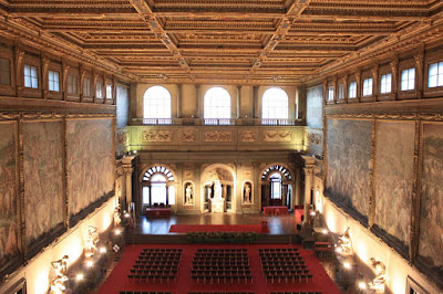 Sala dei Cinquecento inside El Palazzo Vecchio of Florence