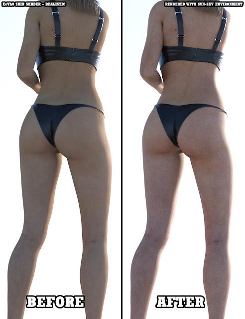 EcVh0 Iray Skin Shader for Genesis 8 Female