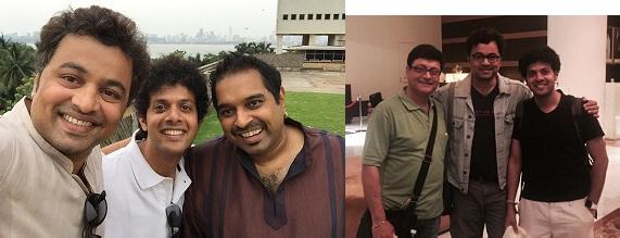 Mahesh Kale with Shankarji & Subodh Bhave