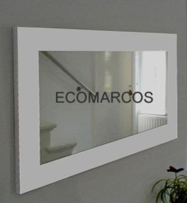 Espejos ecomarcos espejos con marco de madera estilo for Espejos con marco de madera blanco