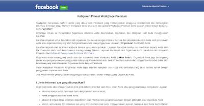Halaman Privacy Policy Facebook-nyemplung.com