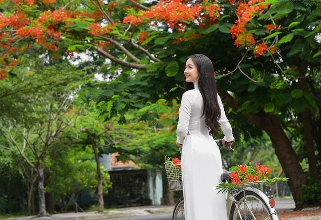 Quỳnh Trâm thướt tha trong tà áo trắng nữ sinh khi mùa phượng vĩ về -2