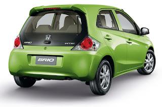 Penampilan belakang Honda Brio