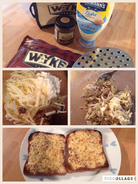 Wyke Farms Cheese on toast recipe with mustard and mayonnaise