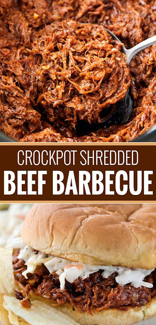 CROCKPOT SHREDDED BEEF BARBECUE