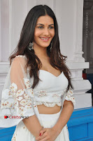 Telugu Actress Amyra Dastur Stills in White Skirt and Blouse at Anandi Indira Production LLP Production no 1 Opening  0058.JPG