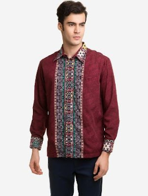 Model hem batik pria desain unik menarik