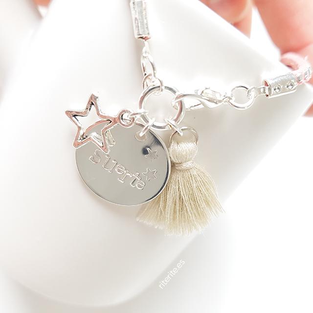 pulsera personalizada mujer plata