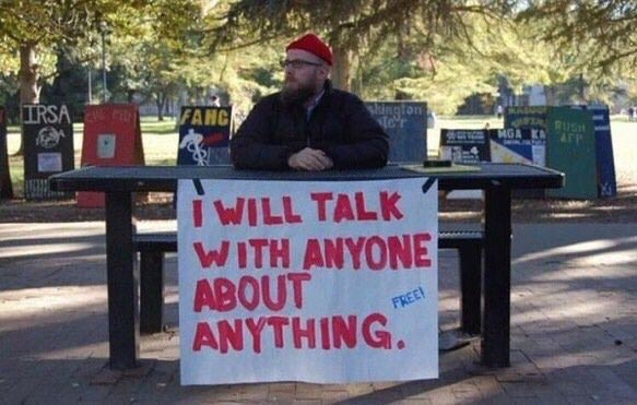 Lonely man wants to talk to anyone..