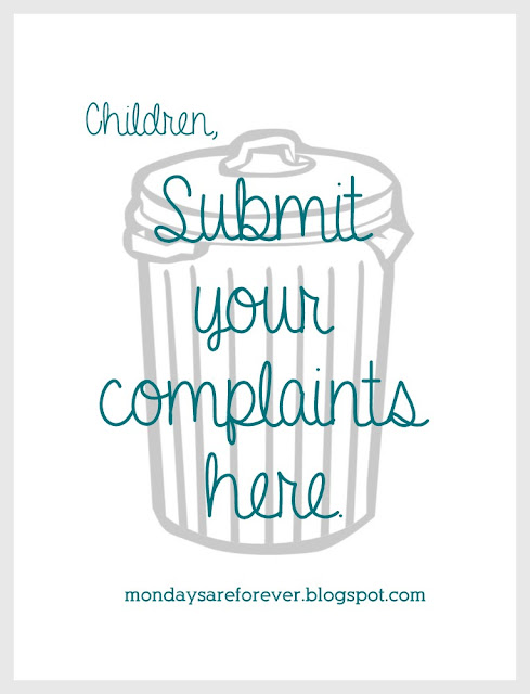 Submit your complaints here.