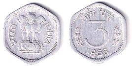 3 Paise Aluminium Coin