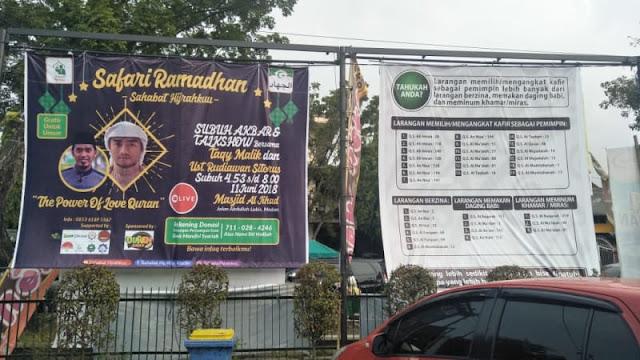 Spanduk Larangan Pilih Pemimpin Kafir di Medan, PDIP: Nggak Laku