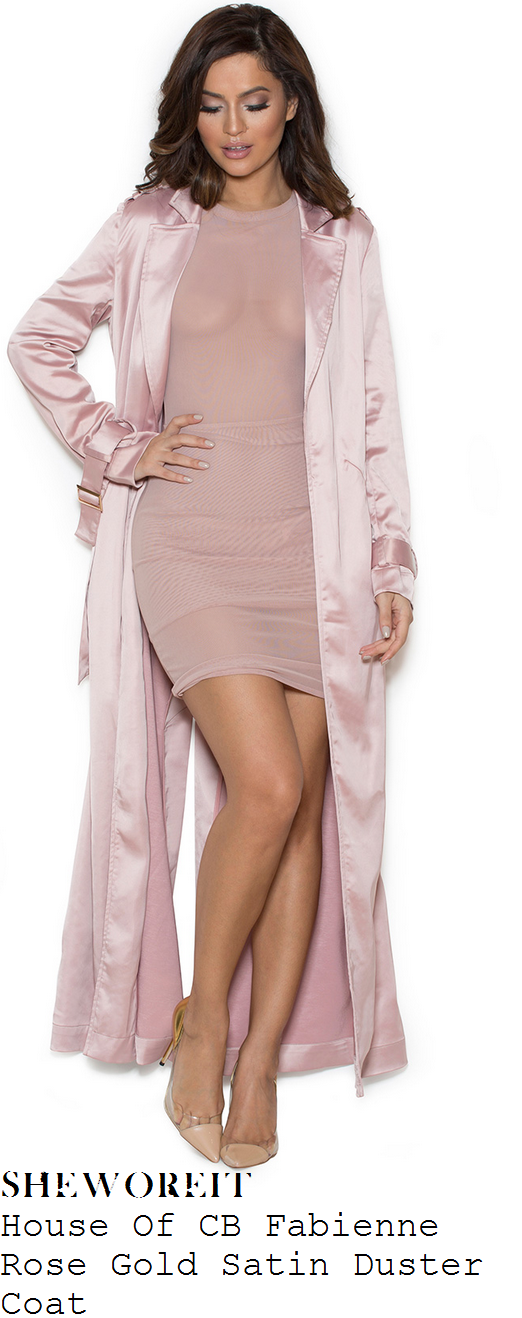 christina-milian-baby-rose-gold-pink-long-sleeve-satin-duster-jacket-coat