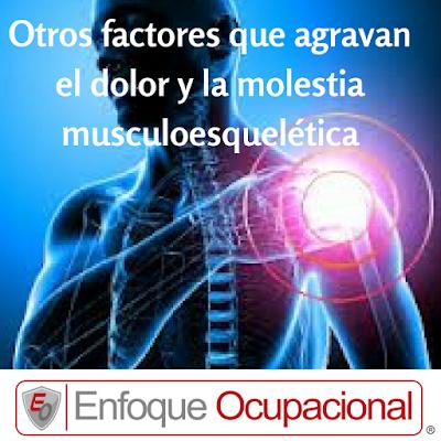 factores que agravan el dolor y la molestia Musculoesquelética