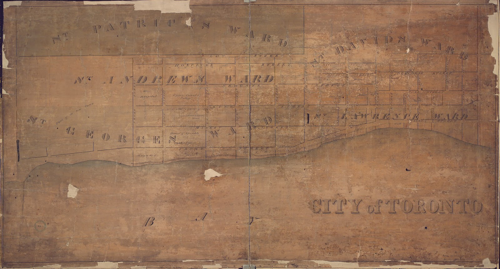 Map: 1834 City of Toronto, by James Grant Chewett